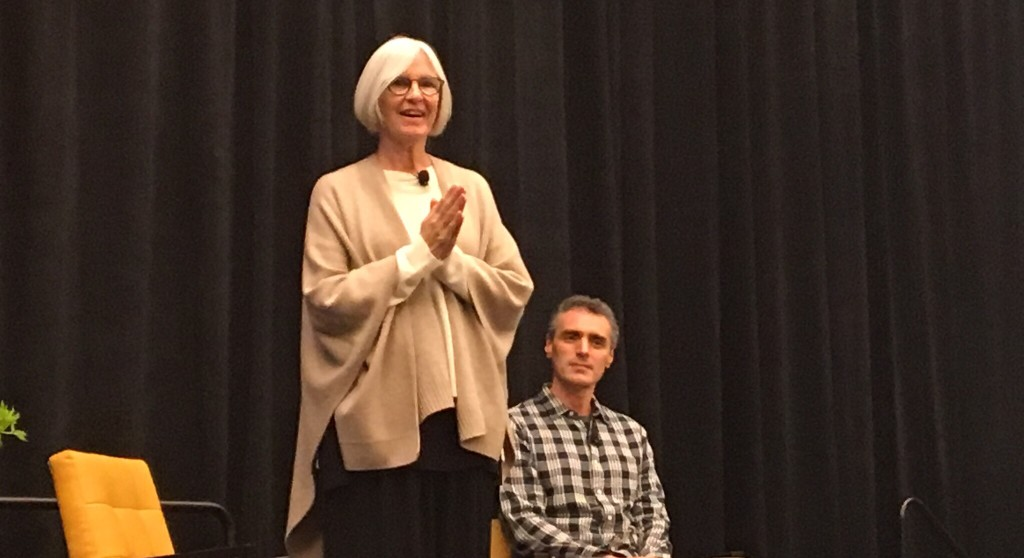 Eileen Fisher speaks at the Wisdom 2.0 conference in San Francisco, 2016.